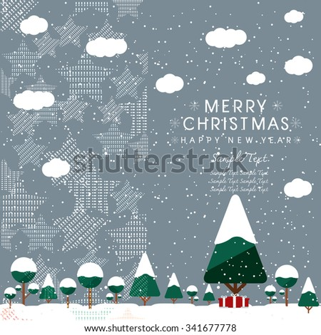 Colorful Pattern with Christmas Elements.Vector Background. - stock vector