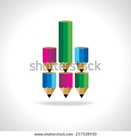 colorful pencil education concept vector - stock vector