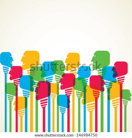 colorful people background - stock vector