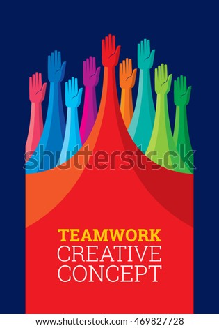 Colorful peoples design for teamwork concept illustration
