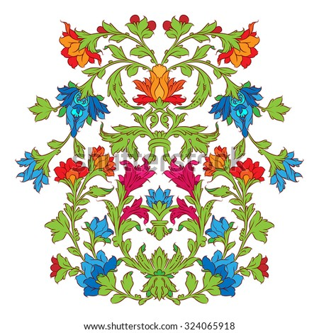 Colorful Persian ornament