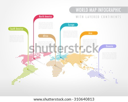 Colorful perspective pixelated world map labels stock vector 2018 colorful perspective pixelated world map with labels pointing each continent gumiabroncs Image collections