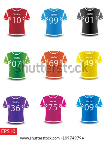 Colorful Photo realistic  sports wear vector Isolated in white background.You can easily change the color and design combination. - stock vector