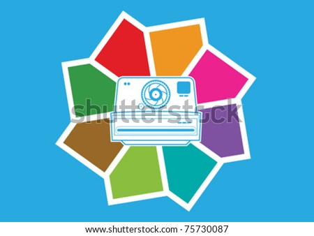 Colorful Photography Concept Illustration in Vector - stock vector