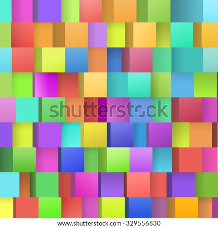 Colorful Pixel Style  Boxes Composition for Your Event Invitation Cards Base - stock vector