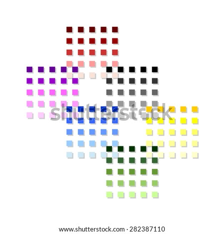 Colorful pixels. Vector background eps 10 - stock vector