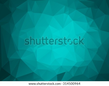 Colorful polygon background or vector frame. Abstract Triangle Geometrical Background, Vector Illustration EPS10. Geometric design for business presentations. teal aqua blue - stock vector