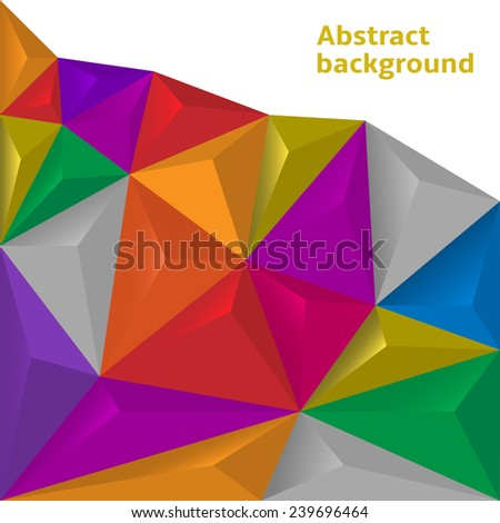 Colorful polygonal abstract background. Vector illustration EPS-10. - stock vector