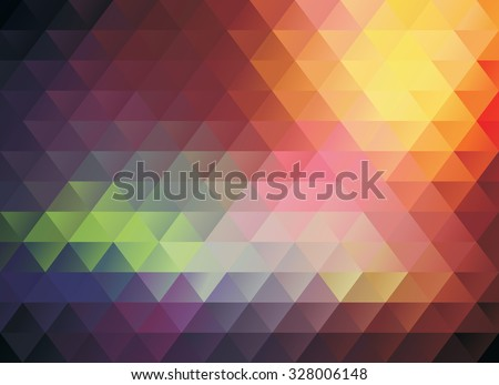 colorful polygonal abstract vector texture or background - stock vector