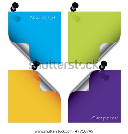 Colorful post its - stock vector