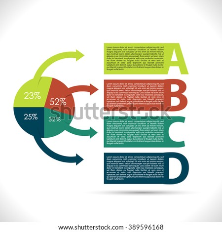 Colorful presentation infographic - stock vector