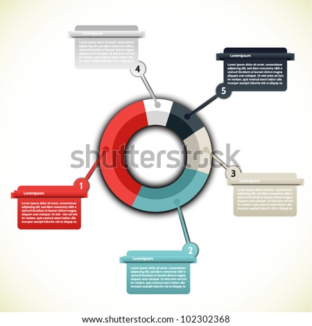 Colorful Presentations and Reports - stock vector