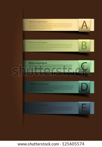 Colorful presentations with alphabets banners - stock vector