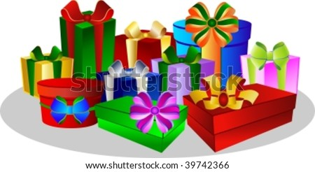 colorful presents - gift boxes