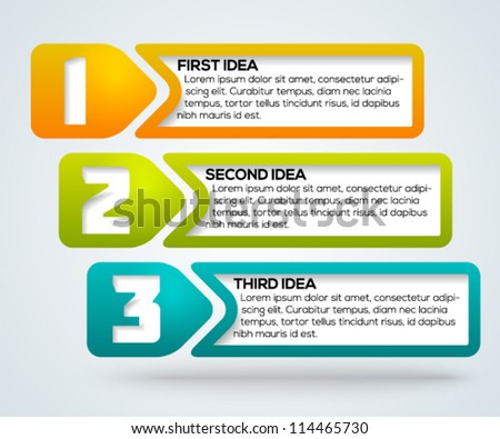 Colorful progress template for your design. Vector illustration. - stock vector