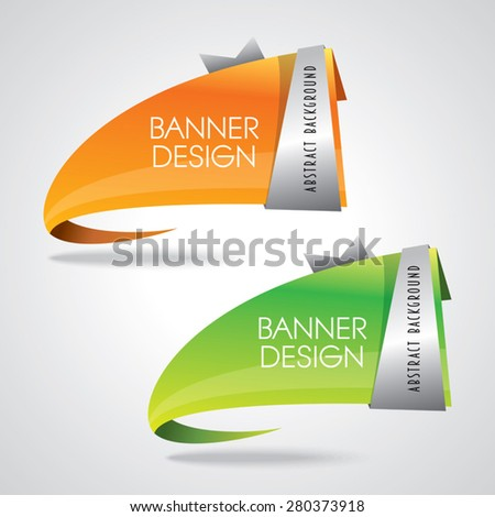 Colorful promotional banner design, vector illustration - stock vector