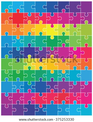 Colorful puzzle, vector illustration