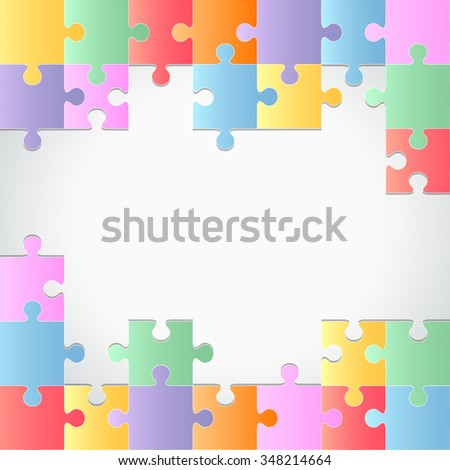 Colorful puzzles background