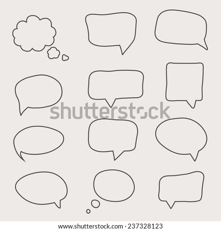 Colorful questions speech bubbles. Eps 10 vector file.
