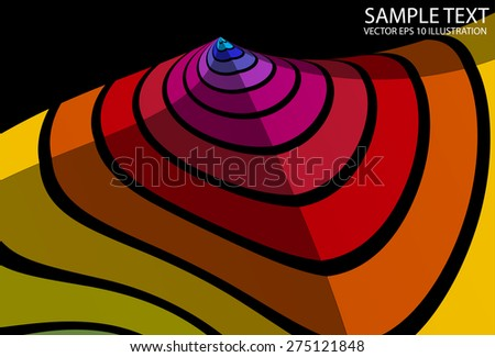 Colorful rainbow abstract lighted background illustration. Vector colorful striped background template - stock vector
