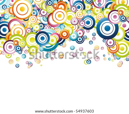 Colorful rainbow circle background. Vector illustration - stock vector