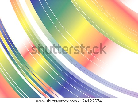 Colorful rainbow spinning movement Abstract Background texture pattern, create by vector - stock vector