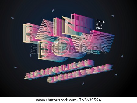colorful/ rainbow typography design vector