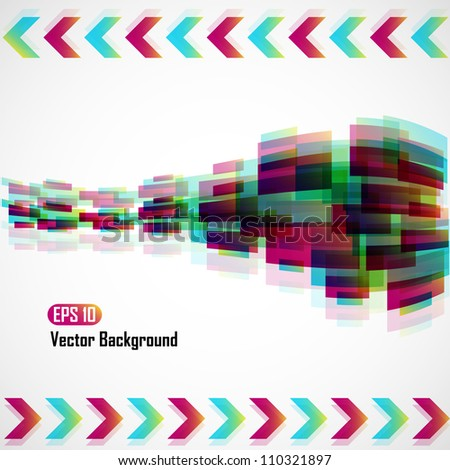 Colorful rainbow vector background - EPS 10