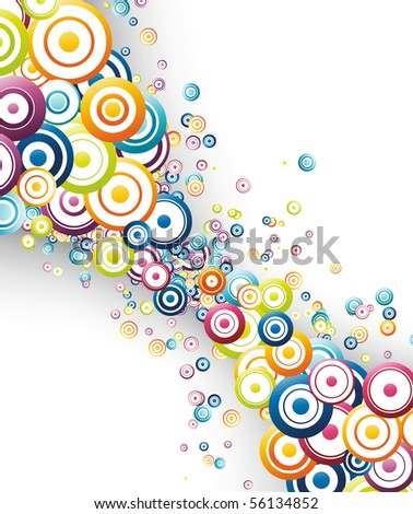 Colorful rainbow wave abstraction. Vector illustration - stock vector