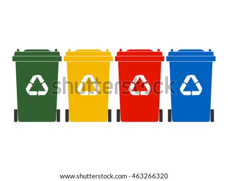 Colorful Recycle bin icon