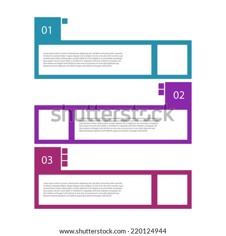 Colorful retro design template / numbered banners. - stock vector