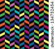 Colorful Retro Fashion Pattern - stock vector