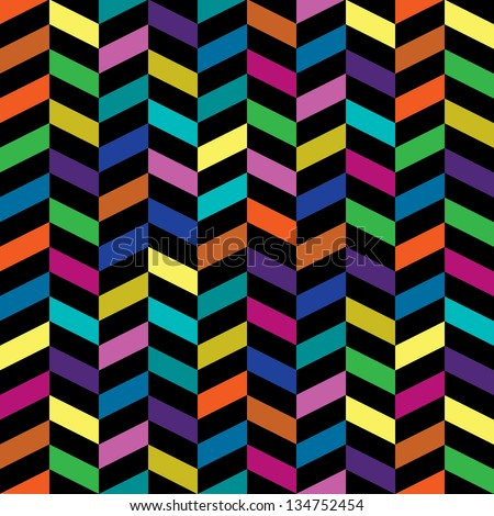 Colorful Retro Fashion Pattern - stock vector