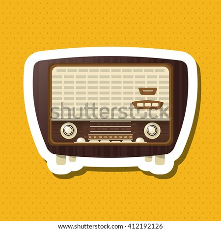 Colorful Retro Radio Design Vector Illustration Stock Vector (2018 ...