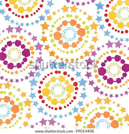 Colorful retro vector background