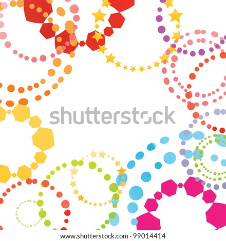 Colorful retro vector background - stock vector