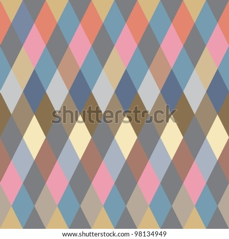 Colorful Rhombus. Seamless pattern,vector background illustration