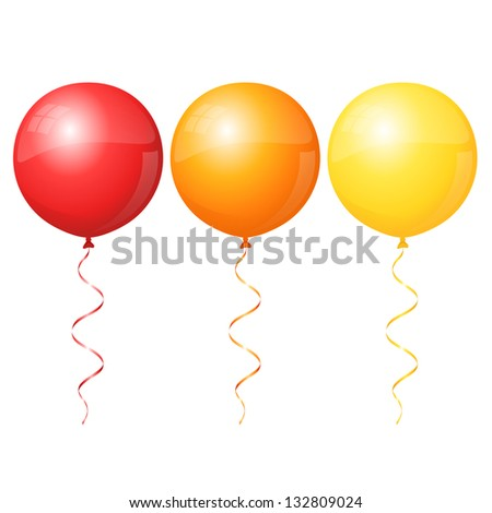 Colorful round ballons