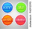 Colorful round labels or stickers - stock vector