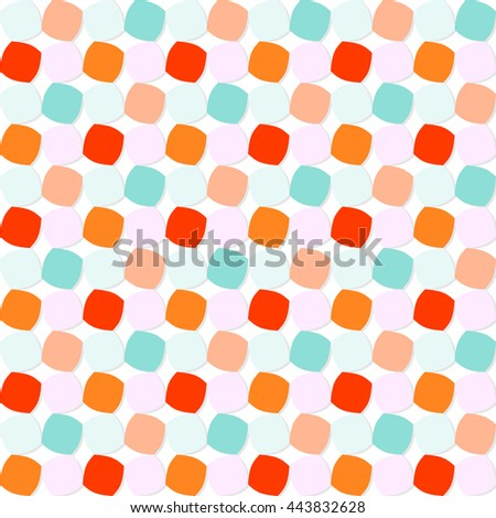 Colorful Rounded Squares Pattern - stock vector