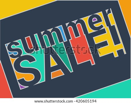 Colorful sale banner. Vector illustration