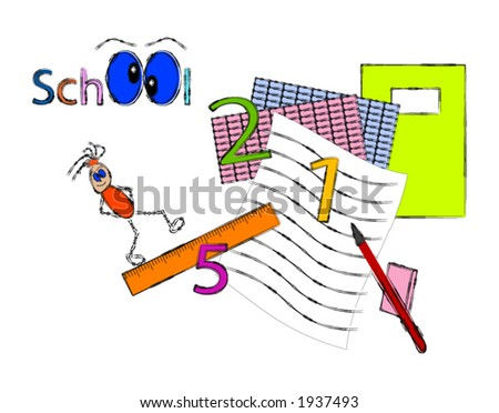 Colorful school vector - fully editable