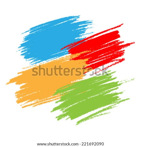 Colorful Scribble Stains, vector design elements  - stock vector