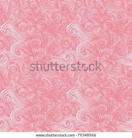 colorful seamless abstract hand-drawn pattern, waves background - stock vector