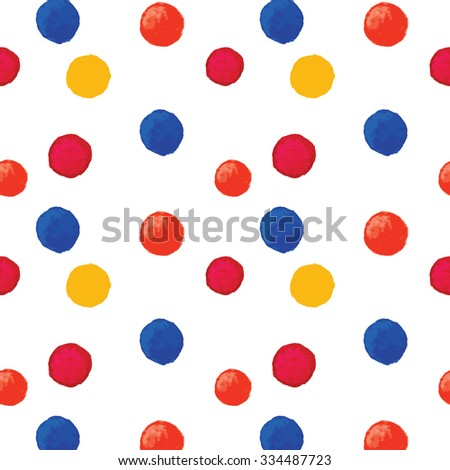 Colorful seamless dotted watercolor background