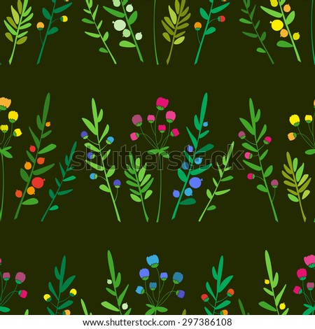 Colorful seamless floral pattern. Vector. - stock vector