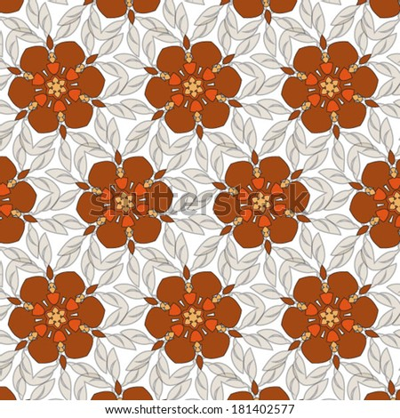 colorful seamless flower pattern