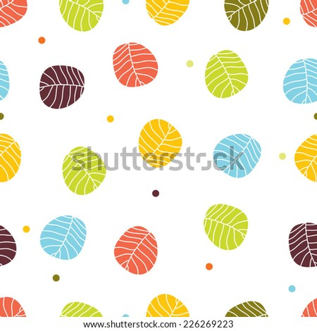Colorful seamless pattern with leaves. Seamless pattern can be used for wallpaper, pattern fills, web page background, surface textures.