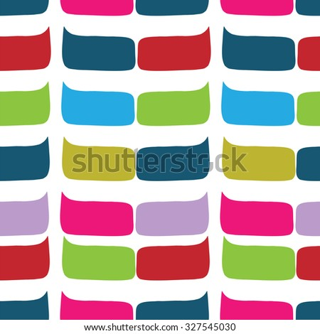 Colorful seamless pattern with social media speech bubbles. Doodle speech bubble pattern. Isolated vector illustration. Design for your skin device or website, sketchbook, paper, school notebook. - stock vector