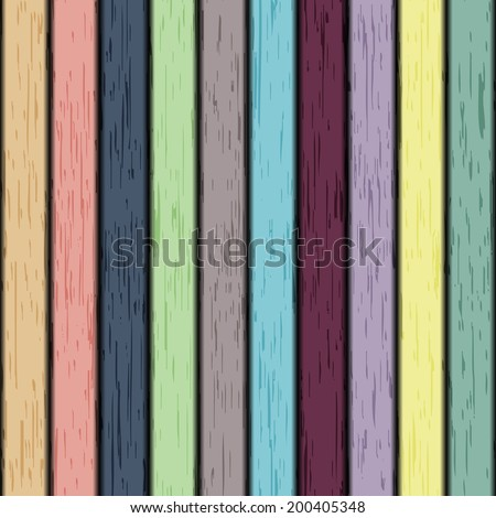 Colorful seamless vector wooden texture - stock vector